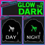 DINOSAUR ADULTS & CHILDRENS GLOW IN THE DARK HOODIE HOODY